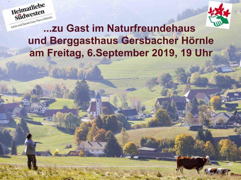 Heimatliebe Südwesten zu Gast   im Naturfreundehaus Gersbach Hörnle