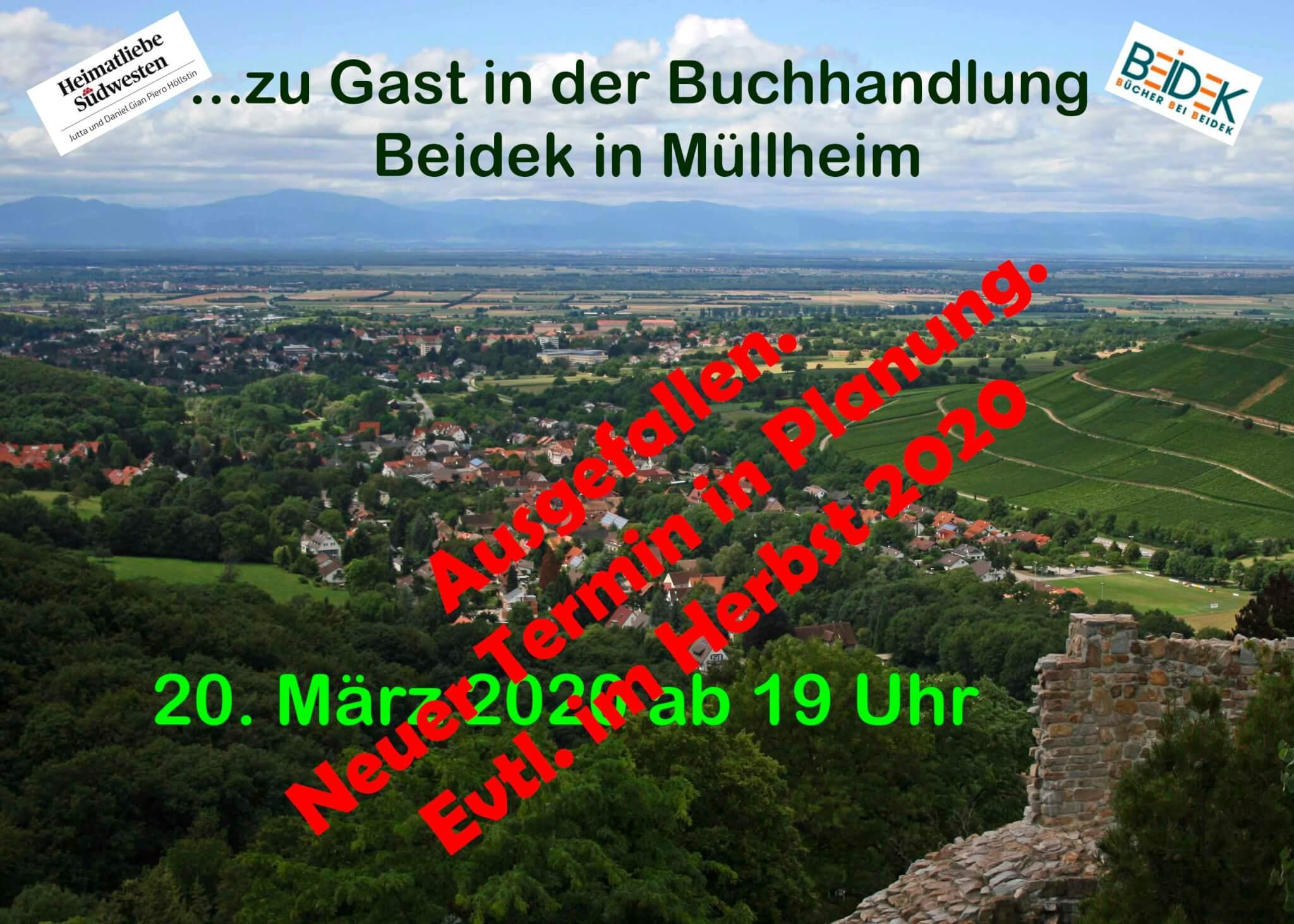Zu Gast in der Buchhandlung Beidek in Müllheim-Baden